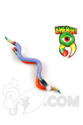 Sherbet Glass - Double Orange/Purple Glass Pencil Dabber Top