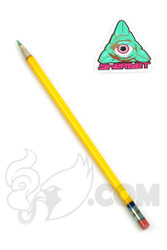 Sherbet Glass - XL Yellow Glass Pencil Dabber with Green Tip