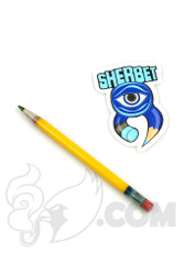 Sherbet Glass - Glass Pencil Dabber Yellow with Green Tip