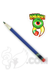 Sherbet Glass - Glass Pencil Dabber Blue