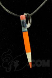 Sherbet Glass - Pendant Glass Orange Pencil Dabber