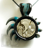 Glass Pav - Reversable Clock Pendant