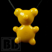 Crumb Glass - Yellow Crumby Bear Pendant