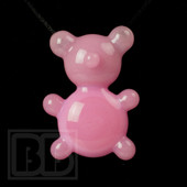Crumb Glass - Pink Crumby Bear Pendant