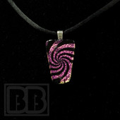 Joint Forces - Pink Swirl Dichro Pendant