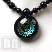 Dichroic Alchemy - Dichro Sacred Triangle Pendant with Matching Chain