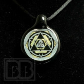Dichroic Alchemy - Dichro Silver and Gold Geometric Pendant