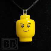 E.F. Norris - Yellow Lego Head Pendant