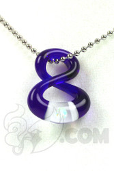 Natey Love - #259 Brilliant Blue China Infinity Pendant Front
