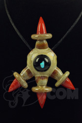 Niko Cray - Tan & Red Bird Claw Pendant Front