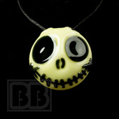 Jedi Glassworks - Glowing Jack Skellington Pendant