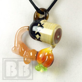 Deranged Lion Glass x Gnarla Carla - Peach Moonshine Jug Pendant
