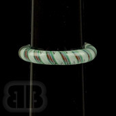 Marni Schnapper x Harold Cooney -White Green Red Twist Glass Ring Collab (Size 10.5)