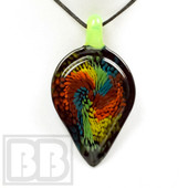 Fish Bowl Glass - Rainbow Burst Dot Stack Pendant
