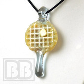 Chad Piece - Grape Drizzle Mini Waffle Pendant