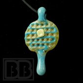 Chad Piece - UV Blueberry Drizzle Mini Waffle Pendant