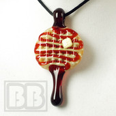 Chad Piece - Strawberry Drizzle Mini Waffle Pendant