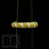 Marni Schnapper x Harold Cooney - Light Rasta Twist Colored Glass Ring Collab (Size 4)