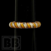 Marni Schnapper x Harold Cooney - Transparent Orange & Red Twist Colored Glass Ring Collab (Size 5)