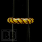 Marni Schnapper x Harold Cooney - Yellow & Brown Twist Colored Glass Ring Collab (Size 5)