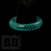 Marni Schnapper x Harold Cooney - Transparent Teal Colored Glass Ring Collab (Size 5.5)