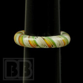 Marni Schnapper x Harold Cooney - Light Rasta Twist Colored Glass Ring Collab (Size 5.5)
