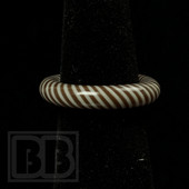 Marni Schnapper x Harold Cooney - Brown & White Colored Glass Ring Collab (Size 6)