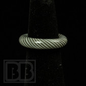 Marni Schnapper x Harold Cooney - Warm Grey & White Colored Glass Ring Collab (Size 6)