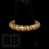 Marni Schnapper x Harold Cooney - Transparent Orange & Red Twist Colored Glass Ring Collab (Size 6)