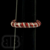 Marni Schnapper x Harold Cooney - Red and White Twist Colored Glass Ring Collab (Size 9.5)