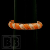 Marni Schnapper x Harold Cooney - Transparent White and Orange Twist Colored Glass Ring Collab (Size 8.5)