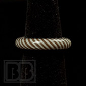 Marni Schnapper x Harold Cooney - Brown & White Colored Glass Ring Collab (Size 7)