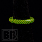 Marni Schnapper x Harold Cooney - Green & Yellow Colored Glass Ring Collab (Size 7)