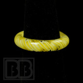 Marni Schnapper x Harold Cooney - Transparent Yellow and White Twist Colored Glass Ring Collab (Size 7)