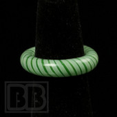 Marni Schnapper x Harold Cooney - Light Green Stripes Glass Ring Collab (Size 7)