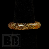 Marni Schnapper x Harold Cooney - Transparent Tan and Brown Colored Glass Ring Collab (Size 7)