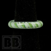 Marni Schnapper x Harold Cooney - Green and White Twist Colored Glass Ring Collab (Size 7)