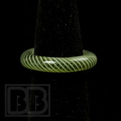 Marni Schnapper x Harold Cooney - Transparent Green Gold Colored Glass Ring Collab (Size 7)