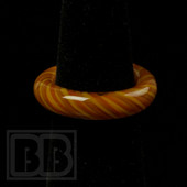 Marni Schnapper x Harold Cooney - Orange and Yellow Colored Glass Ring Collab (Size 7)