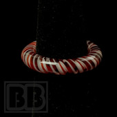 Marni Schnapper x Harold Cooney - Transparent Red and White Twist Colored Glass Ring Collab (Size 7)