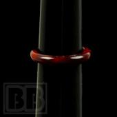 Marni Schnapper - Persimmon Strike Glass Ring (Size 7)
