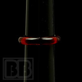 Marni Schnapper - Transparent Pomegranate Colored Glass Ring (Size 7)