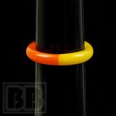 Marni Schnapper - Three Color Glass Ring  w/Red, Orange and Yellow (Size 7)