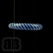 Marni Schnapper x Harold Cooney - Blue on Blue Stripe Colored Glass Ring Collab (Size 7)