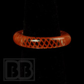 Marni Schnapper x Harold Cooney - Transparent Orange Colored Glass Ring Collab (Size 6.5)