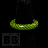 Marni Schnapper x Harold Cooney - Green & Yellow Colored Glass Ring Collab (Size 6.5)