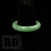 Marni Schnapper x Harold Cooney - Light Green Stripes Glass Ring Collab (Size 6.5)