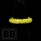 Marni Schnapper x Harold Cooney - Transparent Yellow & White Colored Glass Ring Collab (size 6.5)