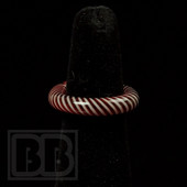 Marni Schnapper x Harold Cooney - Red & White Stripes Colored Glass Ring Collab (Size 6.5)