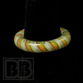 Marni Schnapper x Harold Cooney - Light Rasta Twist Colored Glass Ring Collab (Size 6.5)